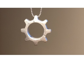 Open Source gear pendant (image not accurate)