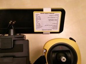 Simple checklist holder for Parrot Bebop