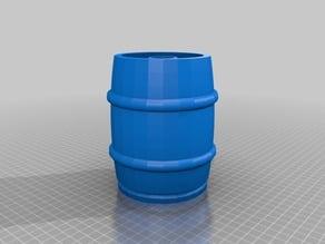 Half-Barrel Keg Shot Glass/Flask