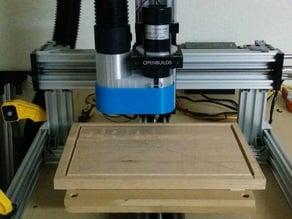 "CNC Vacuum dust shroud - 52mm spindle, 2.5"" shopvac"