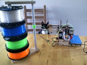 Filament stack with free spinning spools