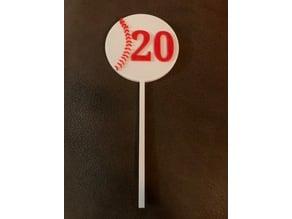 Baseball Table Numbers