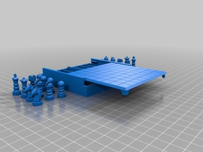 Micro Chess Table Piece Holder Display