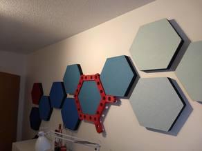 Template for wall mounting of hexagonal sound absorbers / Schablone für Wandmontage von hexagonalen Schallabsorbern