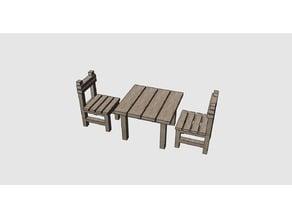 Miniature Chair and Table - Minyatür Masa Sandalye