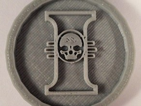 40mm X 4mm Token - Marker of The Inquisition 40K Bits