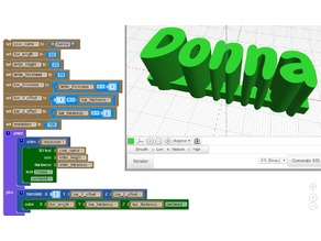 3D Names using BlocksCAD