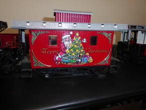 Train Lights Xmas Caboose
