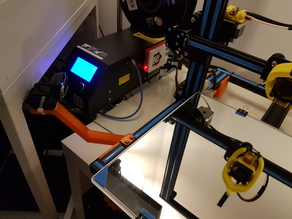 Creality CR-10 Webcam Mount (on side frame)