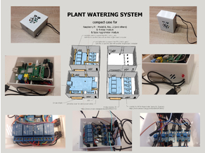 plant watering system - compact case for RPi 1/2/3, 4 relay module & 5pcs Hygrometer module