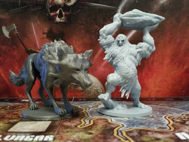 Fenrir mini, proxy for Blood Rage Kickstarter Exclusive by