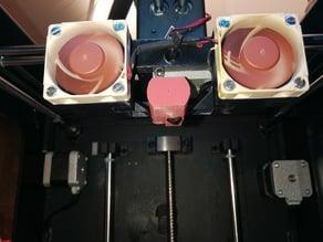 Zortrax M200 dual fan mount