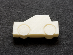 Toy Car with Captive Wheels