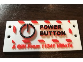 FTC Power Button Label works with Tetrix and REV Systems
