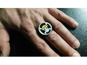 One Piece Luffy Flag Ring