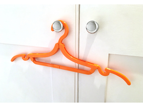 Folding travel coat hanger