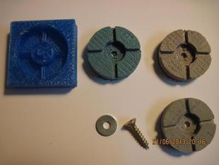 Printable parametric mold for oogoo feet for reprap printer
