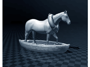 Horse In A Boat