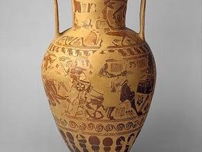 Terracotta neck-amphora (storage jar)