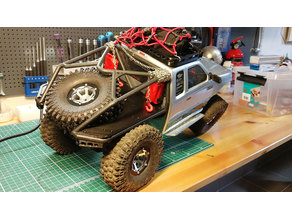 SCX10 Honcho flatbed with 120mm wheel holder