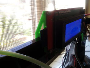Simple LCD holder for prusa i3