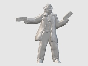 NoirPunk Gunfighter (28mm/32mm scale)