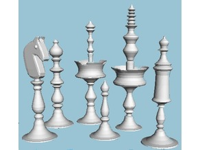 Selenus Style Chess Set