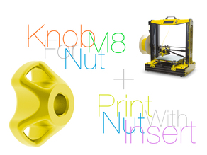 Knob for nut M8. Print with nut insert