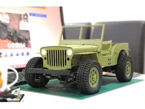 Parts for 133% Ossum Jeep to fit RC 1/10
