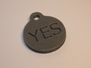Decision Making Keychain