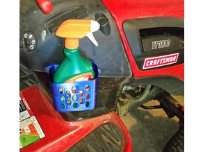 Weed Spray Bottle Caddy for Craftsman Riding Mower