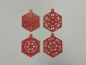 Stained Glass Inspired Ornaments - Cleaned