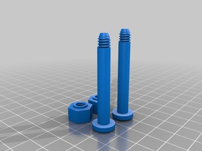 AR-15 Front & Rear Pins with End Caps