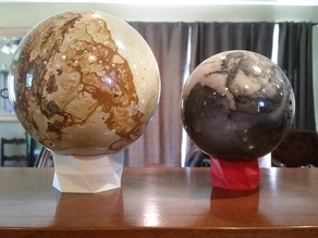 Stone Egg or Sphere Display Stand