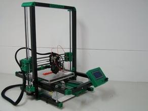Folding 3D printer, design based on Foldarap
