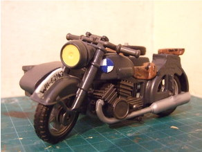 Playmobil Compatible WW2 German Motorbike sidecar upgrade.