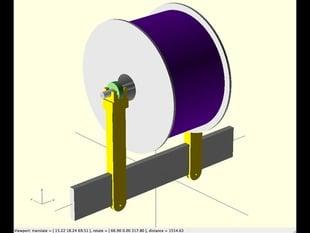 Prusa i3 Printable Spool Holder