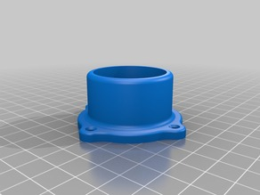 spool holder for 1 inch pvc to wall mount
