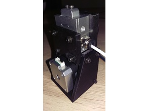 BullDog Extruder mount with 1:4 speed reduction for 2.85 mm filament (for 3030 extrusions) Mark II for HyperCube Evolution