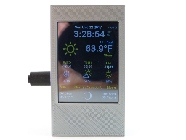 ESP8266 WiFi Color Display - Weather Station Color by