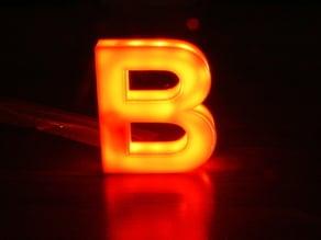 Illuminated Letter B, beleuchteter Buchstaben B