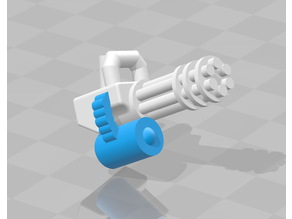 Lego Minigun + Ammo drum
