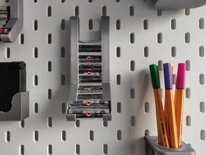 AA Battery dispenser for Ikea Skadis