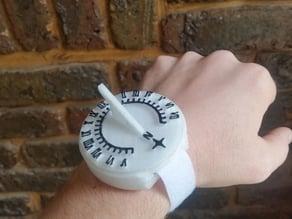 Sun dial watch (flinstone style)
