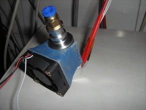 All metal E3D v5 fan duct for 40mm fan
