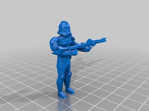 Star Wars 28mm Phase II clone trooper armor