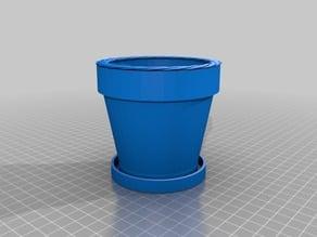 Flower Pot w/ Dainage Cup