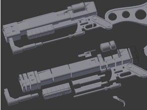 Fallout 4 Laser Rifle Split