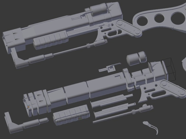 Fallout 4 Laser Rifle Split by Turbowaffle - Thingiverse