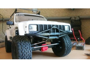 R/C CAR AXIAL SCX10 II (2) short front BUMPER (AX31392 substitute)